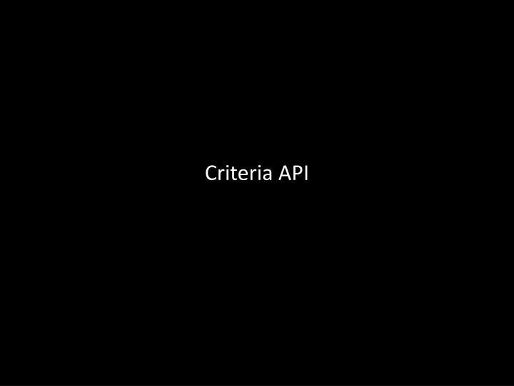 Criteria API