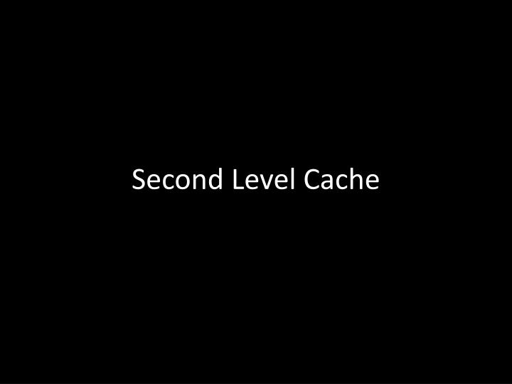 Second Level Cache