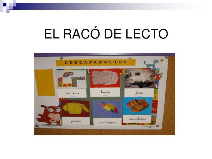 EL RACÓ DE LECTO