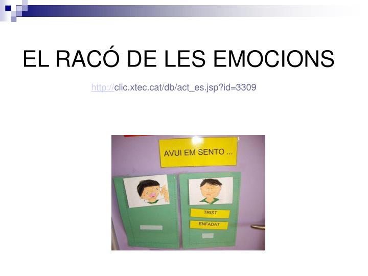 EL RACÓ DE LES EMOCIONS