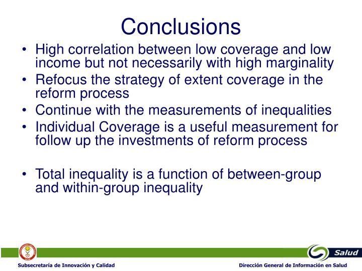 High correlation between low coverage and low income but not necessarily with high marginality