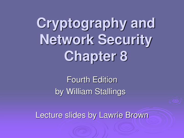 thesis on network security and cryptography