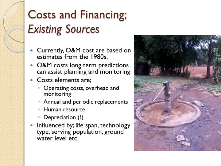 Costs and Financing;
