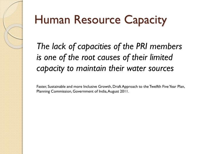 Human Resource Capacity