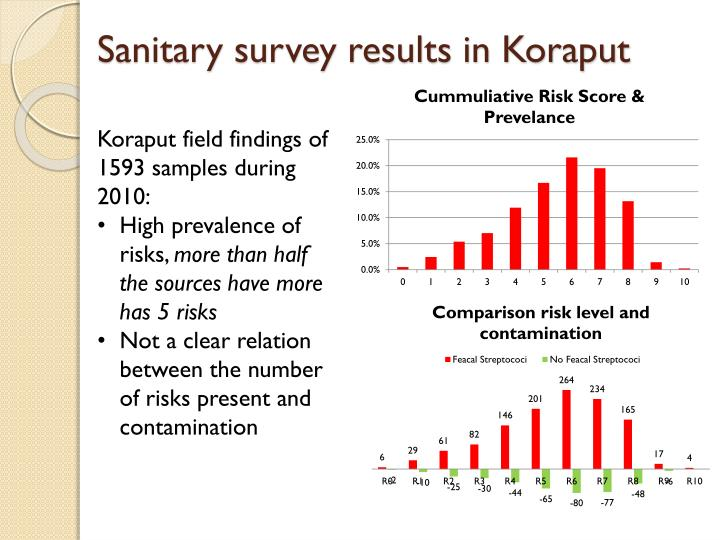Sanitary survey results in Koraput