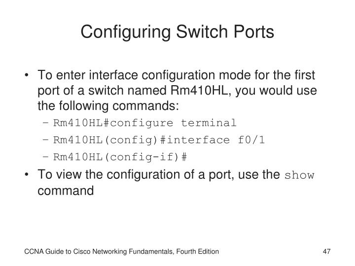 Configuring Switch Ports