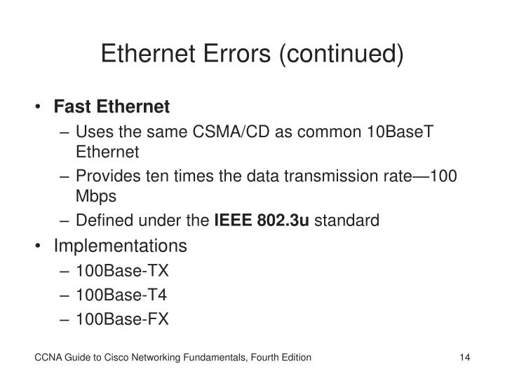 Ethernet Errors
