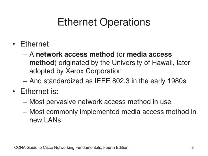 Ethernet operations