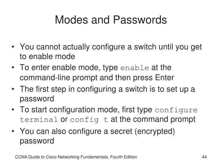 Modes and Passwords