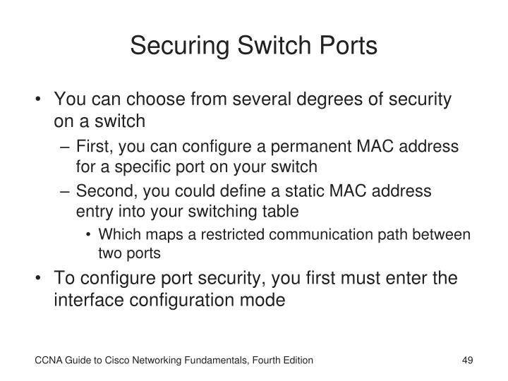 Securing Switch Ports