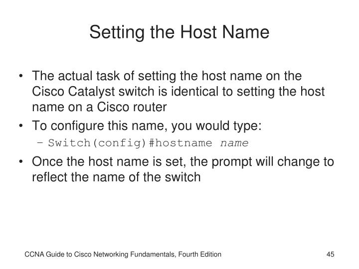 Setting the Host Name