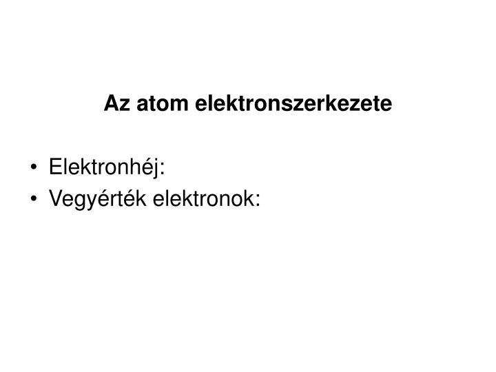 Az atom elektronszerkezete