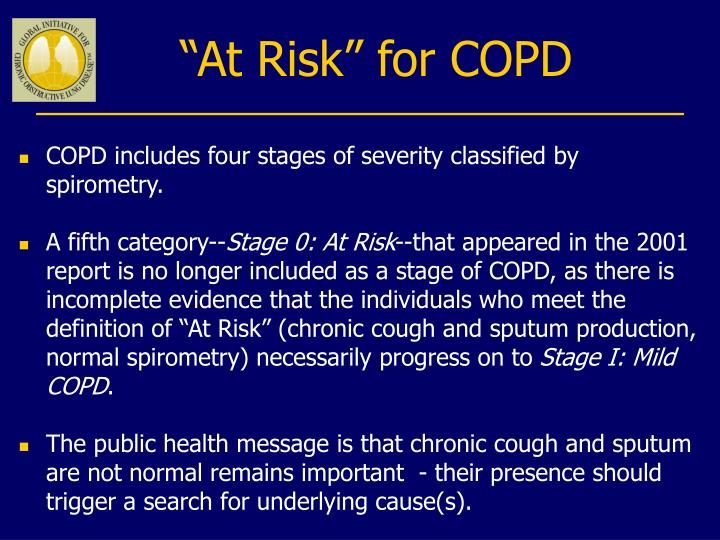"""At Risk"" for COPD"