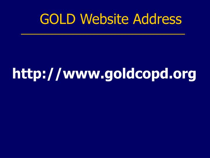 GOLD Website Address