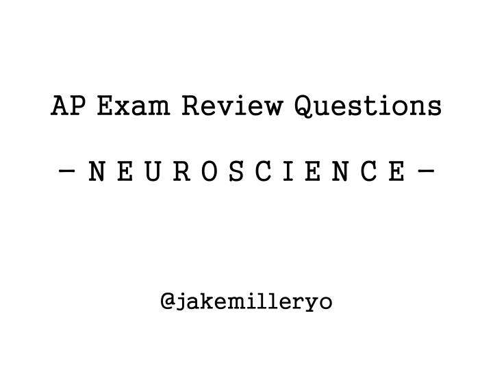 AP Exam Review Questions