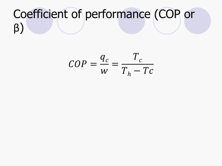 Coefficient of performance (COP or