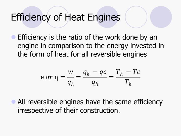 Efficiency of Heat Engines