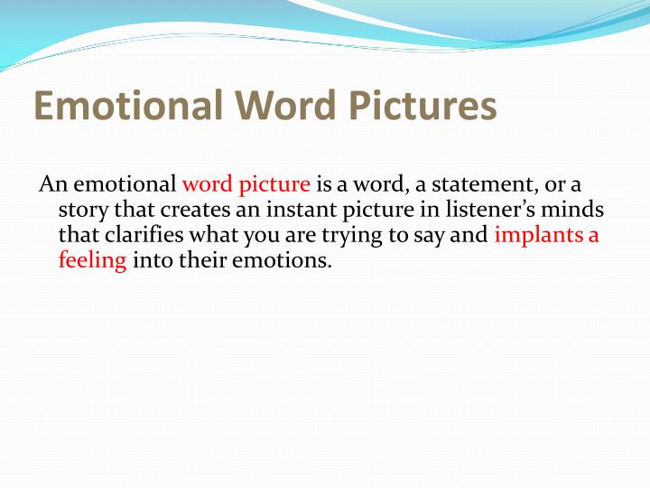 Emotional Word Pictures