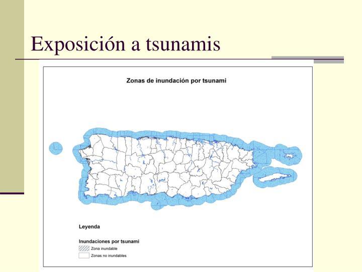 Exposición a tsunamis