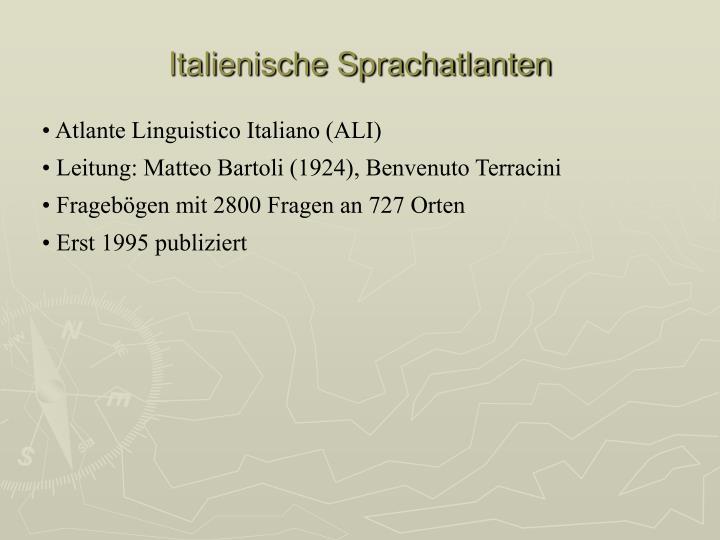Italienische Sprachatlanten