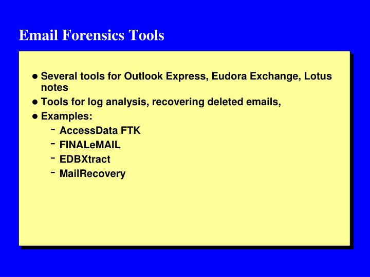 Email Forensics Tools