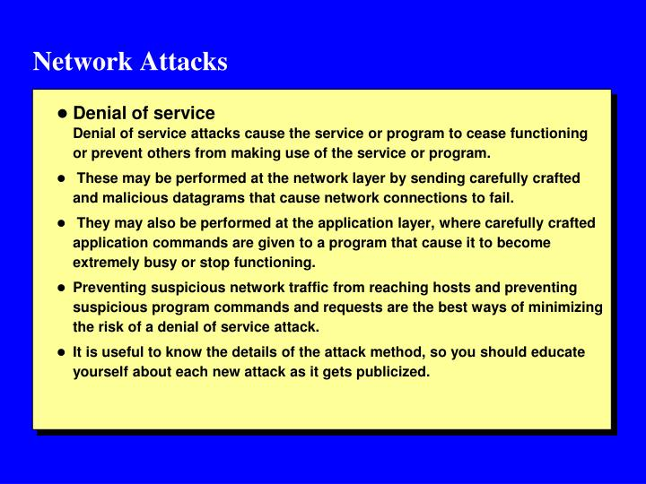 Network attacks