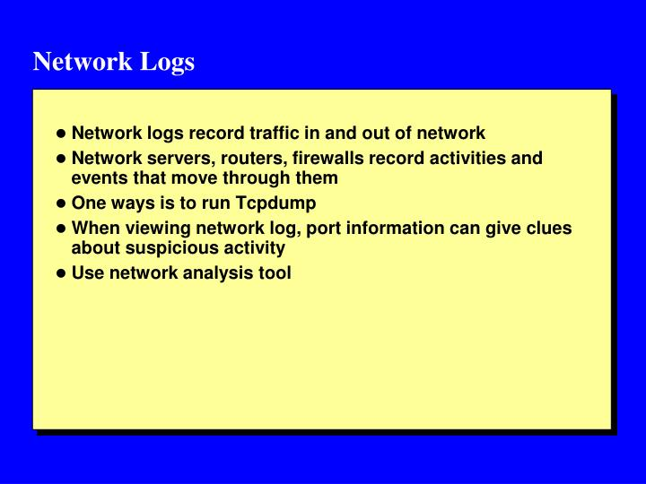 Network Logs