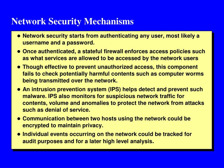 Network Security Mechanisms