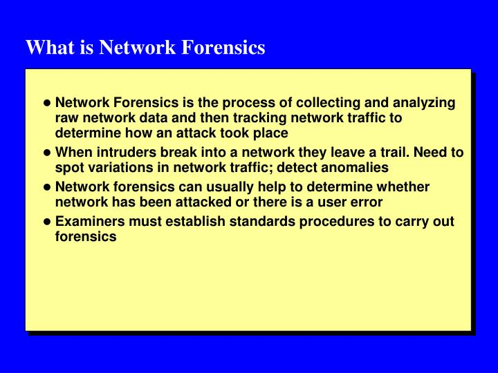 What is Network Forensics