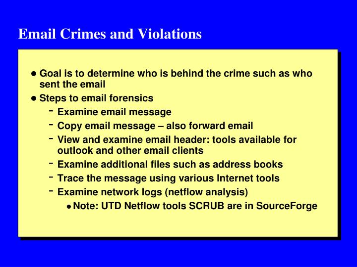 Email Crimes and Violations