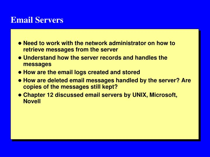 Email Servers