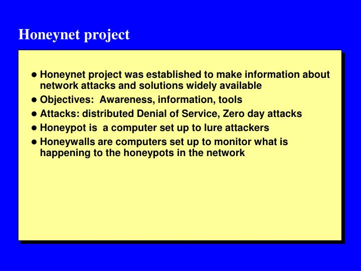 Honeynet project