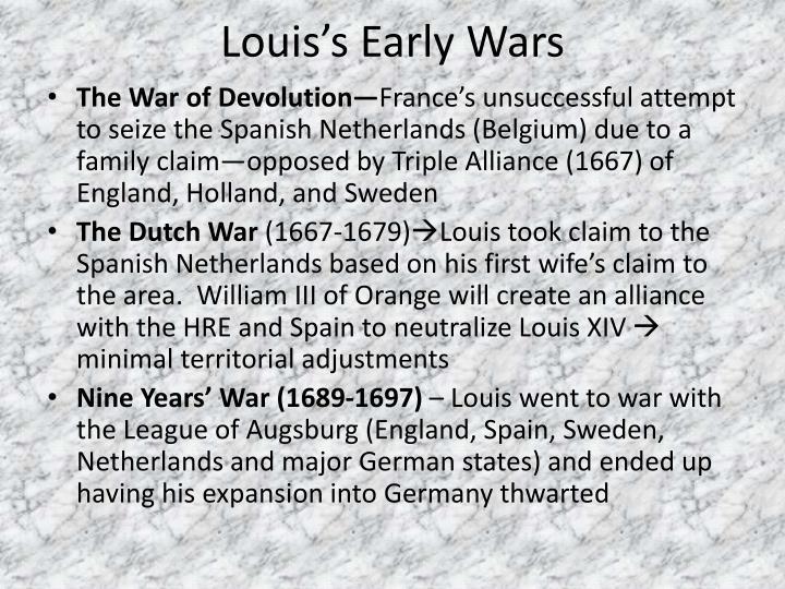 Louis's Early Wars
