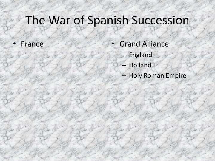 The War of Spanish Succession