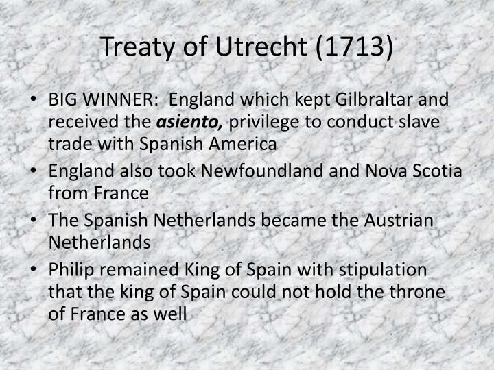 Treaty of Utrecht (1713)