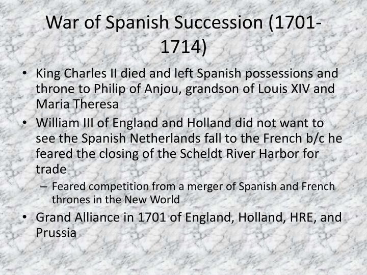 War of Spanish Succession (1701-1714)