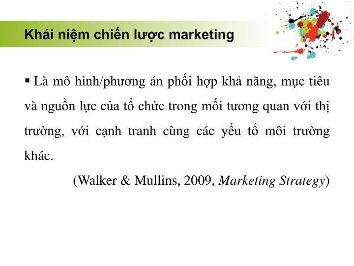 Khái niệm chiến lược marketing