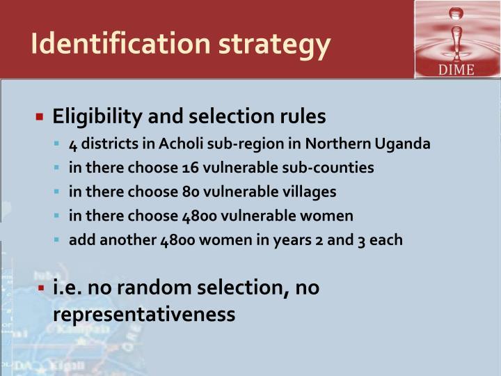 Identification strategy