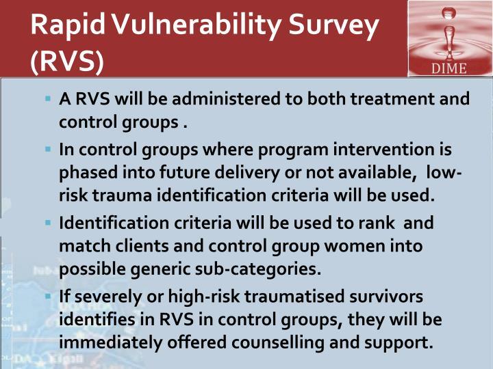 Rapid Vulnerability Survey (RVS)