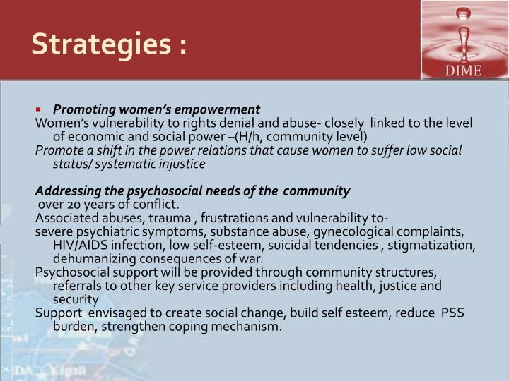 Strategies :