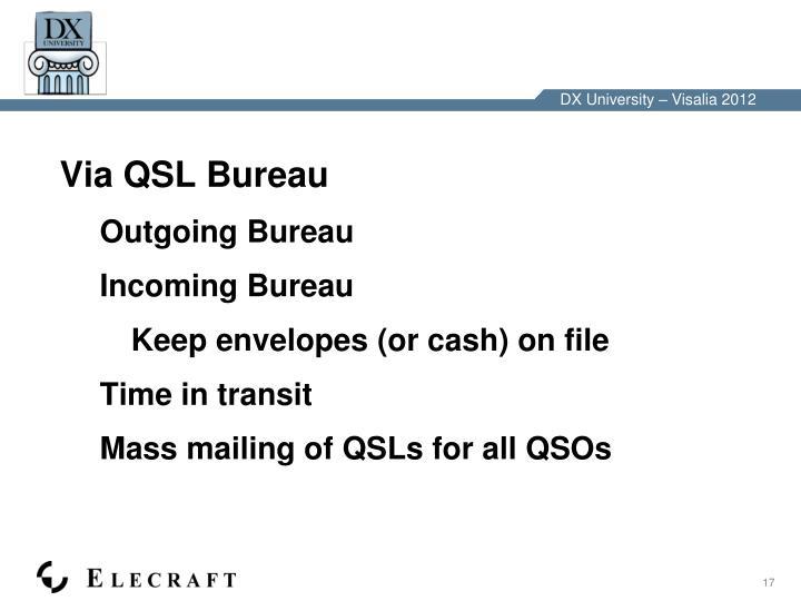 Via QSL Bureau