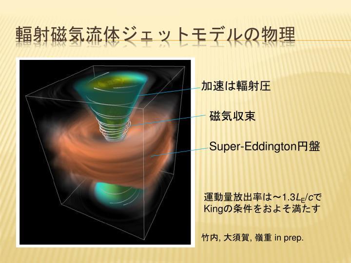 輻射磁気流体ジェットモデルの物理