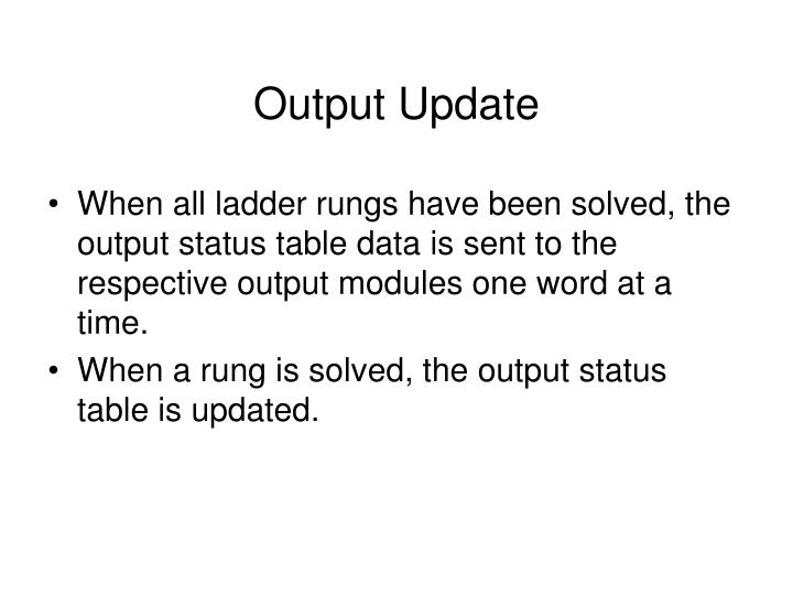 Output Update