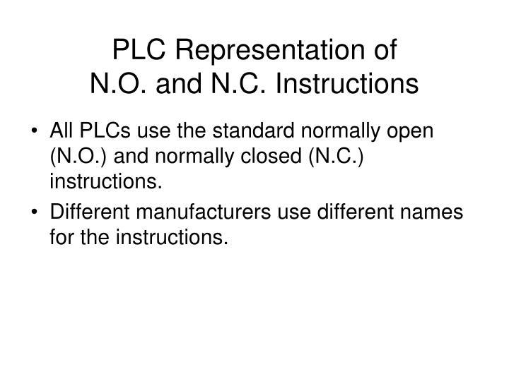 PLC Representation of