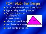 fcat math test design