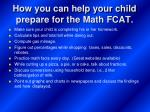 how you can help your child prepare for the math fcat