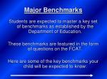 major benchmarks