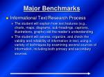 major benchmarks6