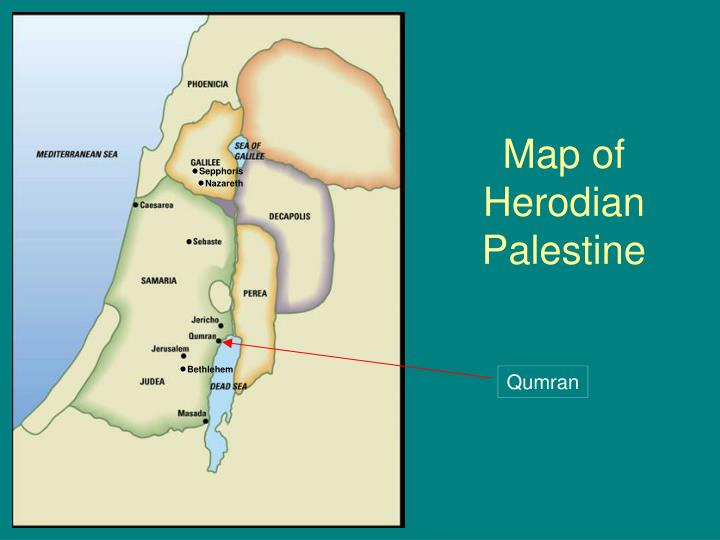 Map of herodian palestine