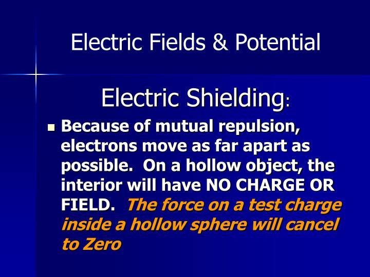 Electric Fields & Potential
